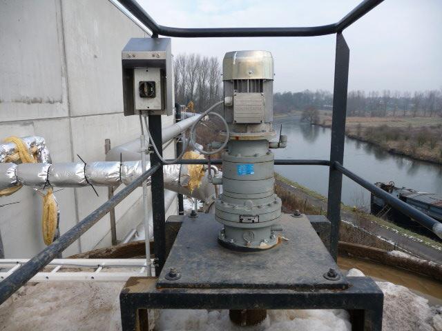 Motoréducteur du racleur avec mesure du couple pour contrôle de la densité de la boue