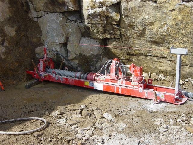 Machine en position de forage horizontal