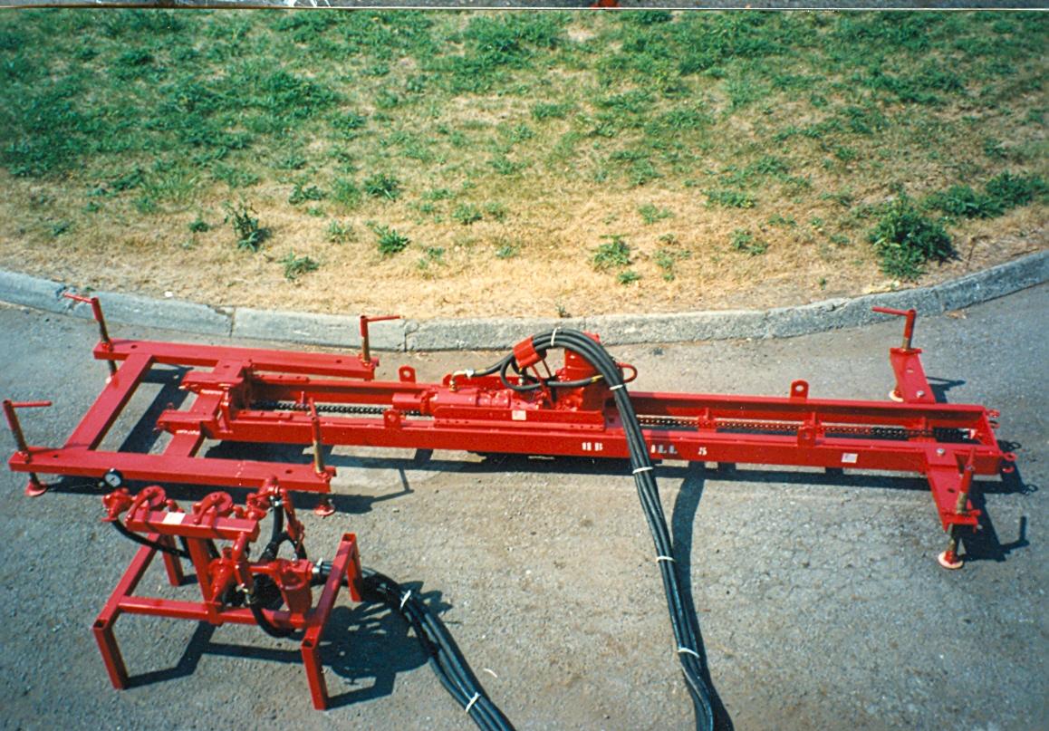 Machine en position horizontale avec stabilisateur