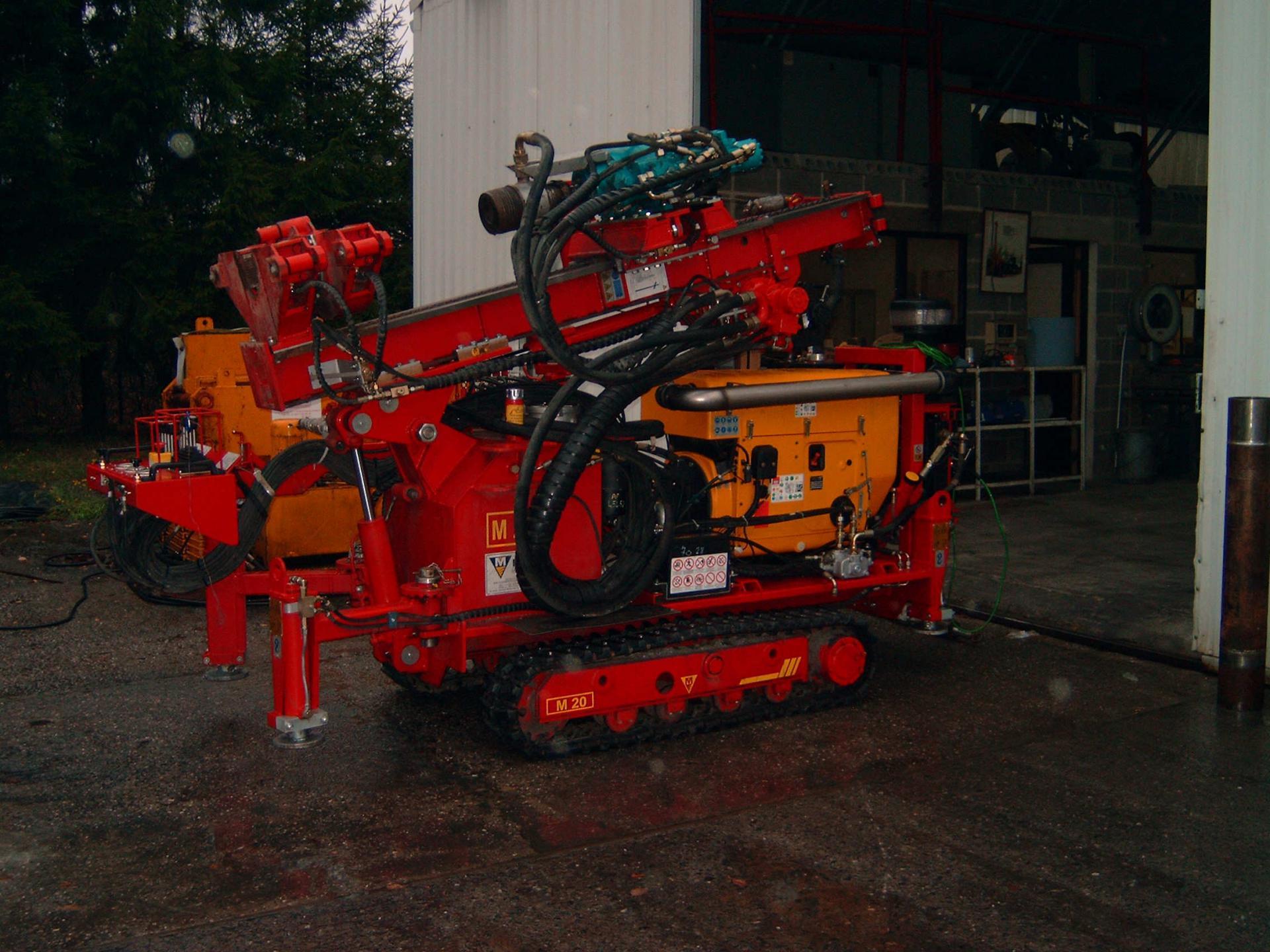Machine en position de transport
