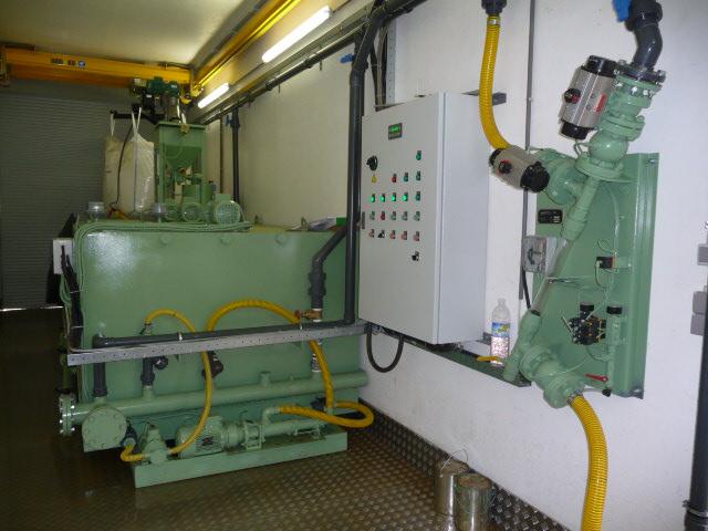 Préparation de polyélectrolyte en conteneur