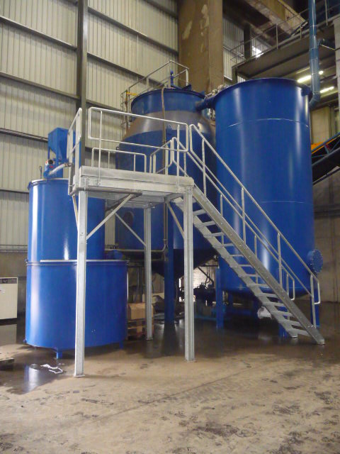Overview of a plastic washing plant