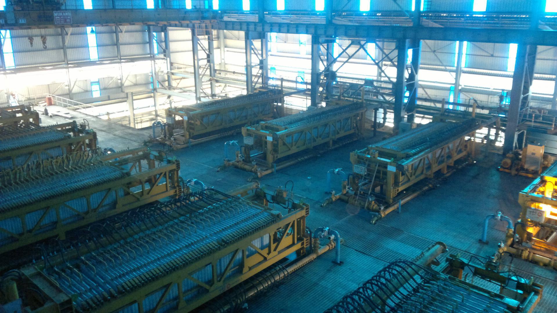 Vue d'ensemble d'installation pour le traitement du charbon